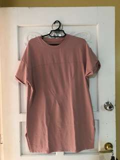 Free SF and Repriced! Pink blush, light old rose shift dress