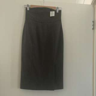 New Cue High waisted Skirt s6