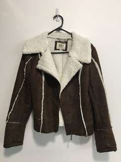 Faux Leather Jacket with fleece lining