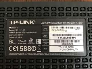 TP Link AC 750 Wireless Router