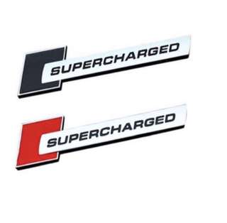 Supercharge Emblem for audi Volkswagen bmw