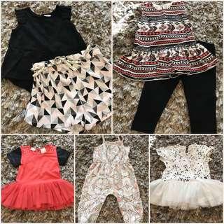 Lot of EUC Kardashian Kids Girls Clothes 12-18M