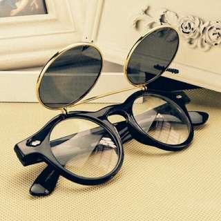 Kacamata Retro Flip