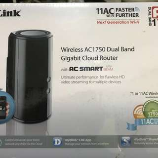 D Link Wireless AC1750 Dual Band Gigabit Cloud Router