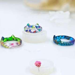 Cat Ring Mold, UV Resin, Epoxy Resin, 18mm Ring Mold