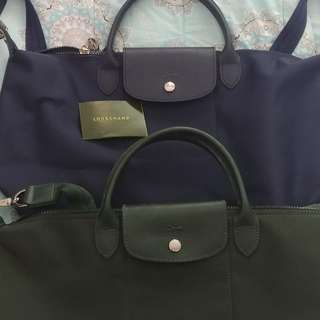Longchamp large sling bag