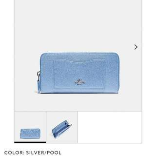 Pre-order: COACH ACCORDION ZIP WALLET