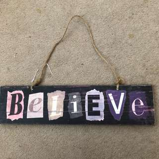 Believe Decoration