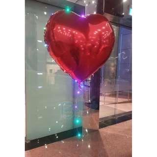 24'' Led Heart Shape Helium Balloon