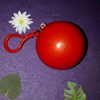 Plain Red Keychain Raincoat Ball