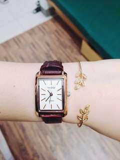 韓版 手錶 皮革 小清新 文青