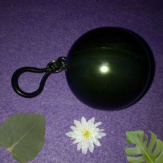 Plain Black Keychain Raincoat Ball