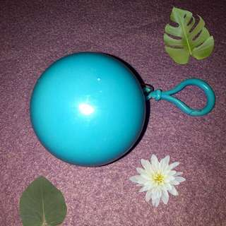 Plain Blue Keychain Raincoat Ball
