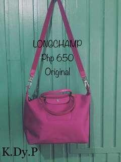 Pink Longchamp 100% Original