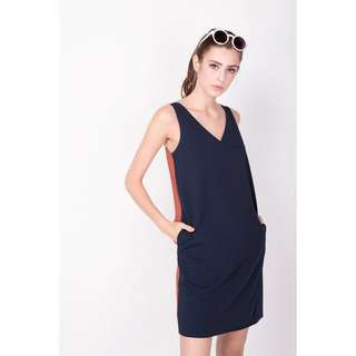 AFA This or That Tank Dress in Navy/Rust (Size S)