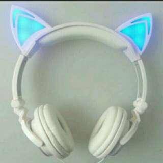 Cat ear Headphones with lights