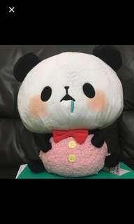 Squishy Panda Rompers BIG Plushie (Red Drooling Panda Bnwt) soft toy original brand new sealed