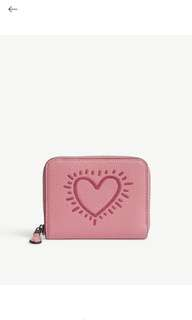 COACH Keith Haring glitter small leather zip-around wallet
