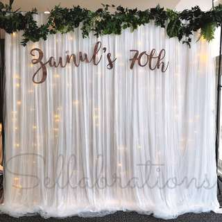 [Sellabrations] Wedding Birthday D&D Photo Backdrop Photobooth Rental