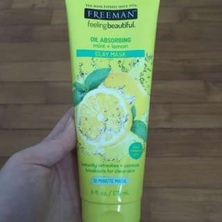 Freeman Oil Absorbing Mint + Lemon