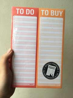 Knock Knock To Do / To Buy Pad