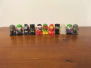Marvel and DC Ooshies