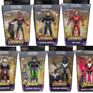 Marvel Legends infinity war wave