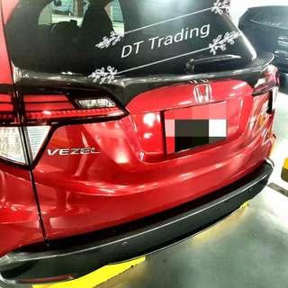 Honda Vezel Rear boot spoiler ( Carbon Fibre Print)