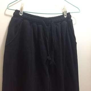 黑色棉質闊腳褲Black pants