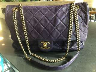 Authentic Chanel Casual Flap - calfskin leather