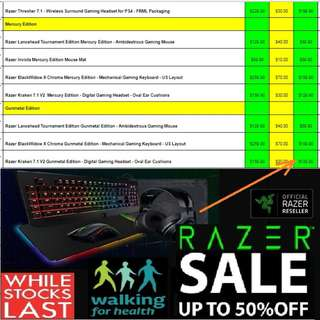 Razer Massive Offer Sales now ON, Hurry Grab it while Stock last. (Page:3) Till 31 Mar 18.