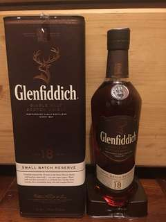 Glenfiddich 18年whisky 威士忌 single malt 70cl