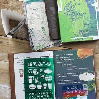 STARBUCKS PLANNERS 2018 SMALL GREEN BRAND NEW SEALED with VINTA CARD