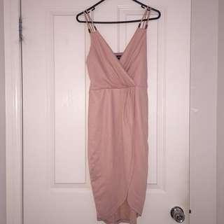 VALLEYGIRL Wrap Dress - Peach