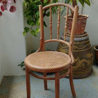 Coffee Shop Chair With Woven Seat