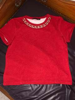 Red Top with chain
