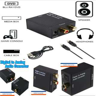 Digital Optical Coaxial Toslink to Analog RCA L/R Audio converter