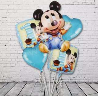 5 in 1 Mickey Birthday balloon