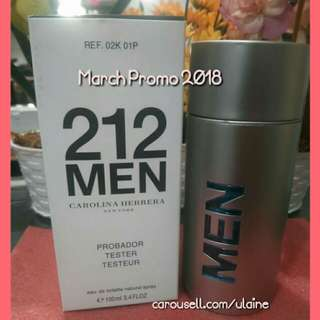 March Promo (2018) Authentic 212 Men by Carolina Herrera