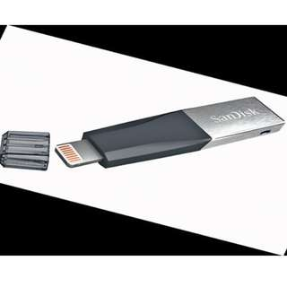 128 GB Sandisk Ixpand Lightning Connector / Iphone Ipad OTG