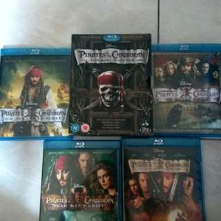 Pirate of the Caribbean four-movie collection (Blu-ray)