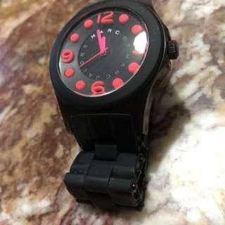 marc jacobs 桃紅 黑色錶 watch