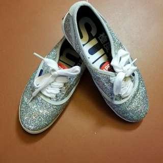 Superdry Silver Glitter Sneakers 銀色閃閃波鞋
