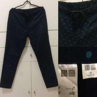 UNIQLO polka dots long pants / celana panjang polka