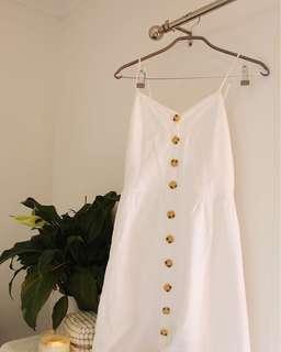 Princess Polly Linen Button Up Dress