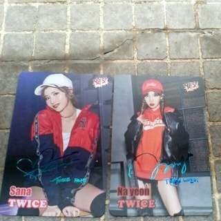 Twice yes card Sana&Na Yeon