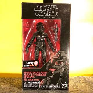 Reserve Early! Star Wars The Black Series - Battlefront II (Gamestop Exclusive) - Inferno Squad Agent