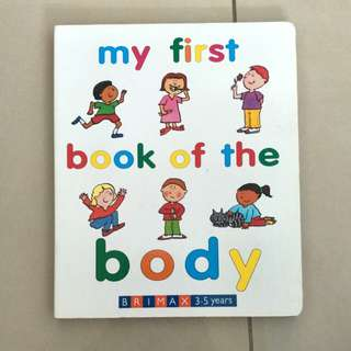 children's books 3-5 years (my first book of the body)