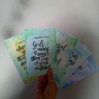 Christian calligraphy verses card