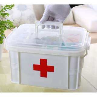 大號雙層 - 醫藥箱 收納箱 多功能收納盒